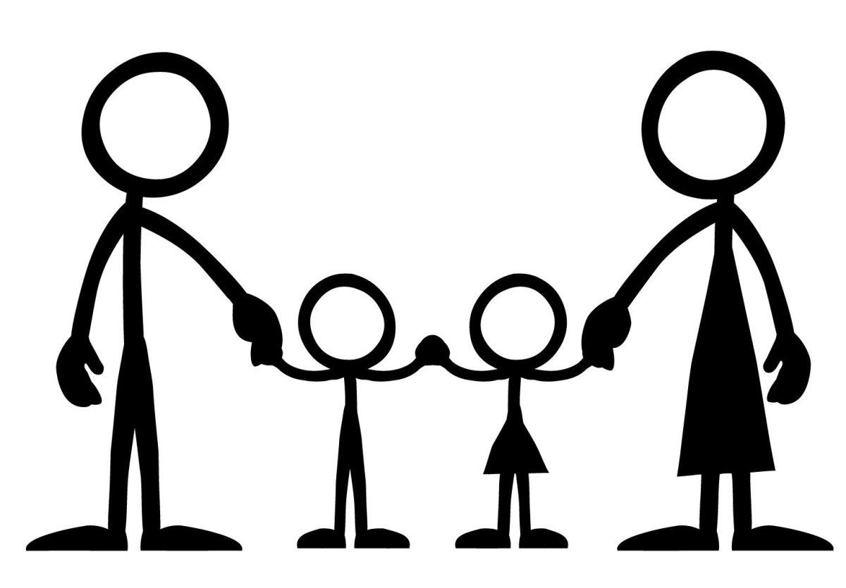 Картинки человечки семья, открытки телеграммы